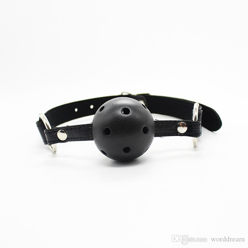 Leather Wrist Ankle Cuffs Mouth Plug Ball Gag Whip Collar Eye Mask Bondage Slave In Adult Games Fetish Sex Toys For Women - HT09