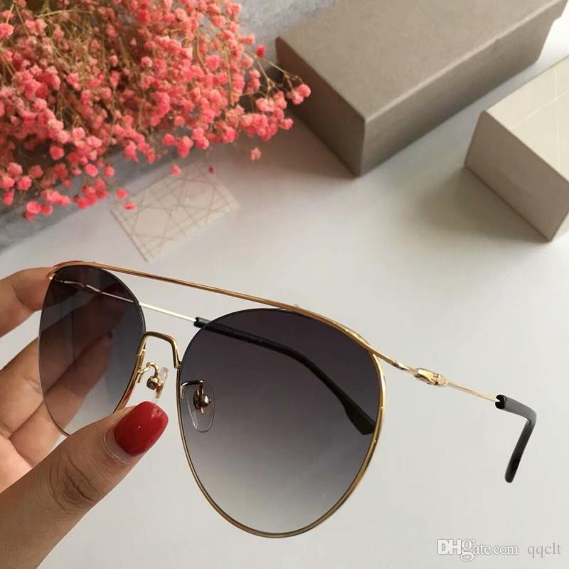 eeafe52a671 Luxury Classic Sunglasses For Women Summer Oval Style Coating Mirror Lens  Sunglasses UV Protection Italian Design Top Quality Come With Case Cheap ...