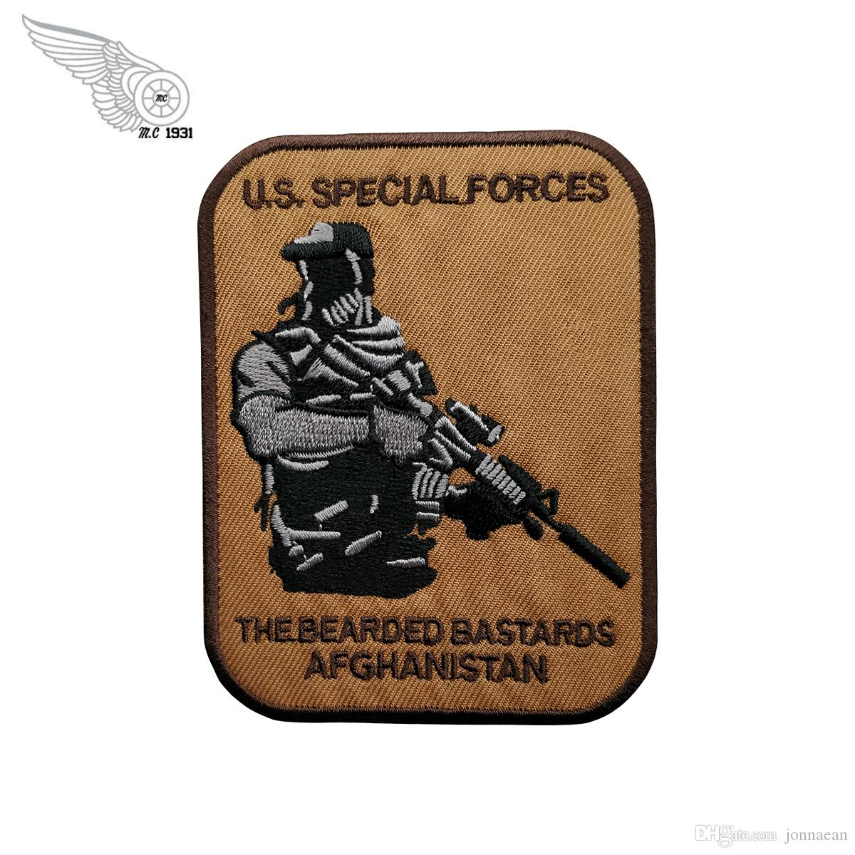 U.S.Special Forces Military Embroidery Iron On Patches Handsome Soldier Badge For Clothing