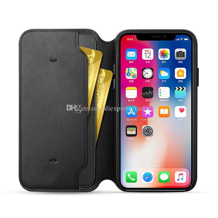 Have LOGO Original PU Leather Folio Wallet Case Auto Sleep Function Official Flip Smart Card Slot Cover for iPhone XS Max X with Retail Box
