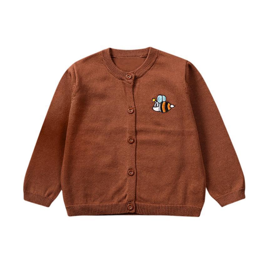... Mayor Caliente Del Niño Ropa Para Niños De Punto Coloridos Dibujos  Animados Bee Sweater Cardigan Coat Tops Niños Suéteres Prendas De Vestir  Exteriores ... 0c8a140713fc