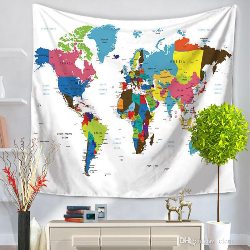 World map tapestry table mat beach towels yoga mat towel world map tapestry table mat beach towels yoga mat towel multifunction polyester wall hanging decor 150200cm small wall tapestry southwest tapestry wall gumiabroncs Choice Image
