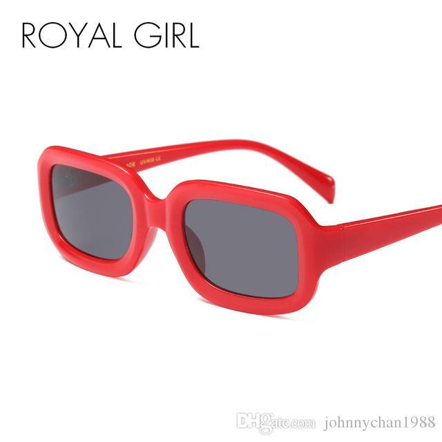 2ed85a0396880 Compre MENINA REAL Pequeno Quadrado Óculos De Sol Das Mulheres Dos Homens  Retro Preto Branco Vermelho Quadro Retangular Óculos De Sol Masculino  Feminino ...