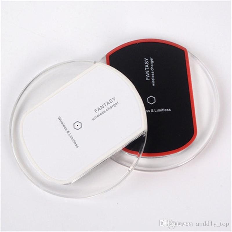 K9 s6 qi drahtlose ladegerät lade für samsung s6 s7 s8 plus iphone 8 x fantasie hohe effizienz pad mit kleinpaket
