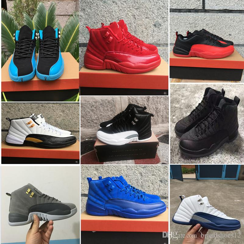 fa4577db0f6 2019 Hot Sale! 2018 Athletic Shoes 12 12s Mens Basketball Shoes Playoffs  French Blue Barons Royal Red Suede Sports & Outdoors Sneakers From  Brandshoes12, ...