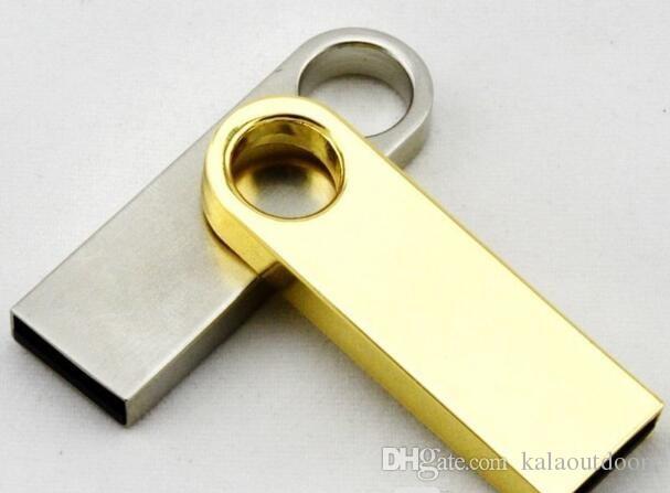 100% new 4GB 8GB 16GB 32GB 64GB Water-resistant Mini Metal Key Pen Memory Stick USB 2.0 Flash Drive U Disk Keychain Style with opp plastic