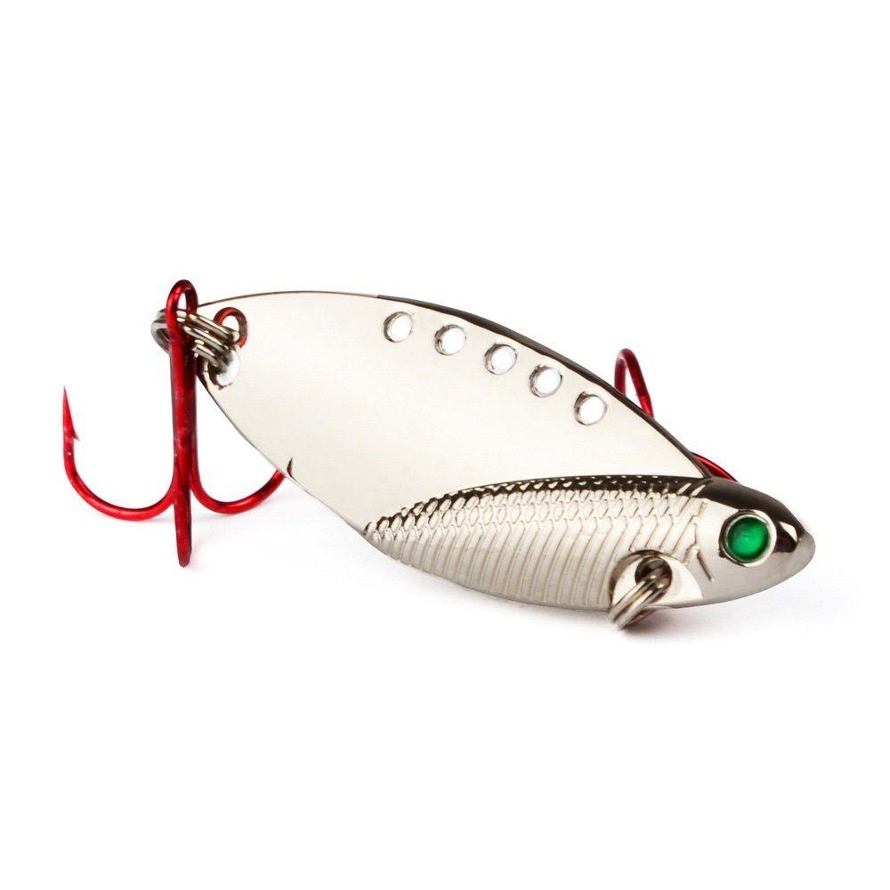 Смешанные 5 Модели 6см 11g VIB Ложки рыболовные крючки Крючки 6 # Крюк Металлические Приманки Приманки PESCA Рыбалка Снасть D-018