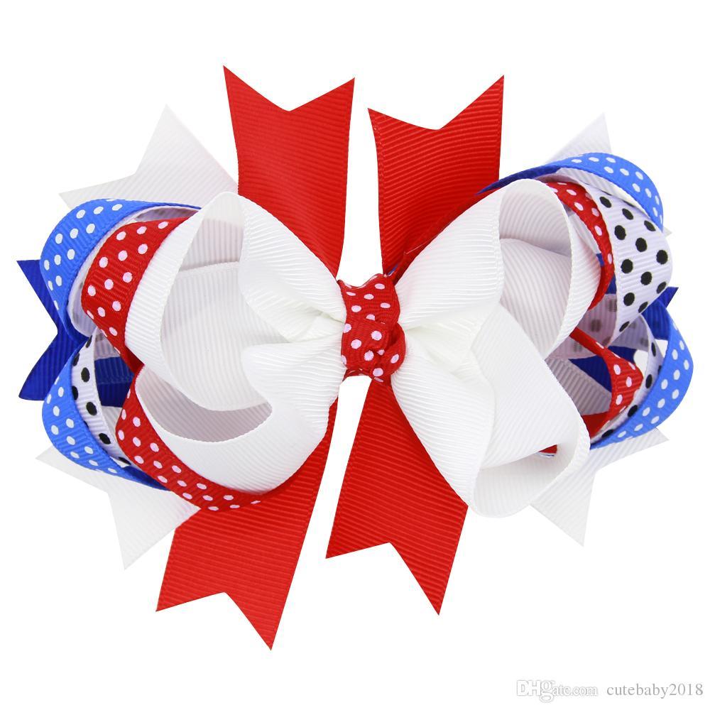 Designer de Baby Hairbands Flor Bandeira EUA Swallowtail Headbands Bebê Headband 2018 Acessórios Para o Cabelo Arco bebê headbands Dia da Independência HC084