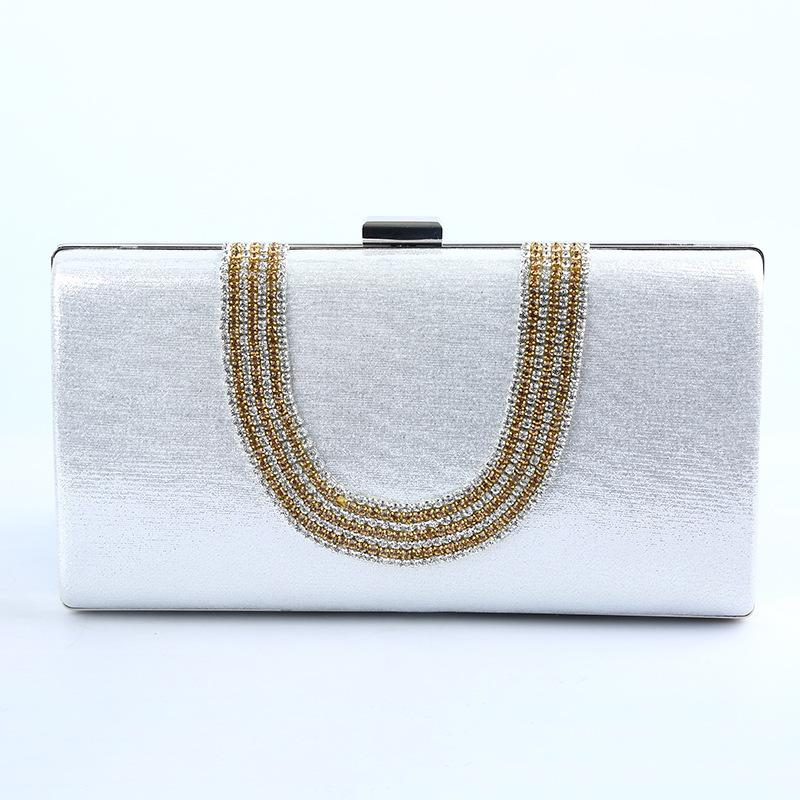 09c350247830e Ladies Rhinestone Ring Elegant Evening Bag Party Wedding Handbag Clutches  Bag Silver Leather Purse Gold Clutch From Bluehill, $39.44| DHgate.Com