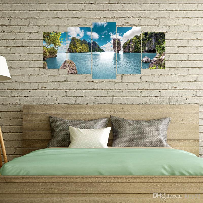 3D Stickers muraux amovibles Blue Sky Mountain View Décor Home Décor Decal expédition Creative Fond d'écran gratuit