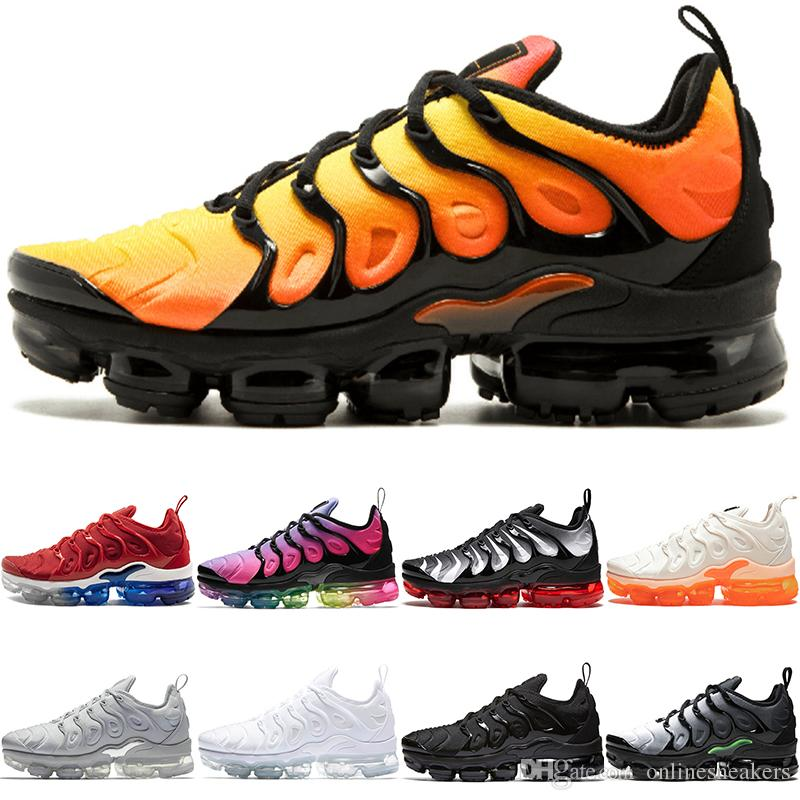 timeless design 3d985 ebf3c Acheter TN PLUS Pas Cher Hommes Femmes Chaussures De Course BE TRUE Jaune  Triple Noir Blanc Hyper Rouge Hommes Designer Trainer Sport Sneaker De   82.24 Du ...