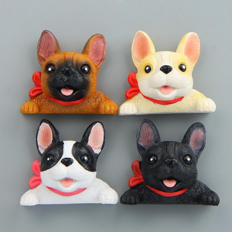 Acquista simpatico cartone animato francese bulldog magnete kid