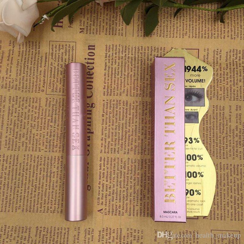 Top Quallity! New Face Cosmetic besser als Sex ist besser als Liebe Mascara Schwarz Farbe lang anhaltend mehr Volumen 8 ml Masacara