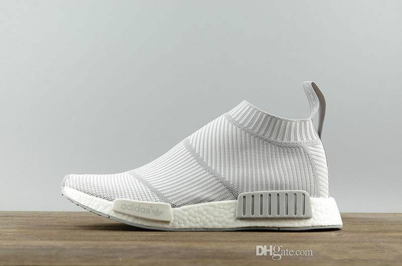 info for 2379a 1f1a4 Brand designer NMD R1 City Sock Primeknit White Grey S32191 Mid Cut  Sneakers with real boost bottoms size 5-13