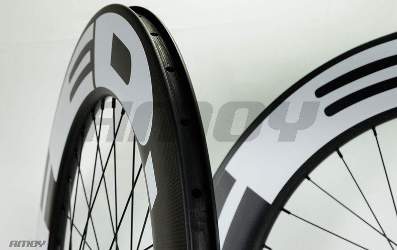 무료 배송 25mm 폭 HED 페인트 88mm 깊이 고정 기어 탄소 휠 700C 도로 자전거 자전거 바퀴 전체 탄소