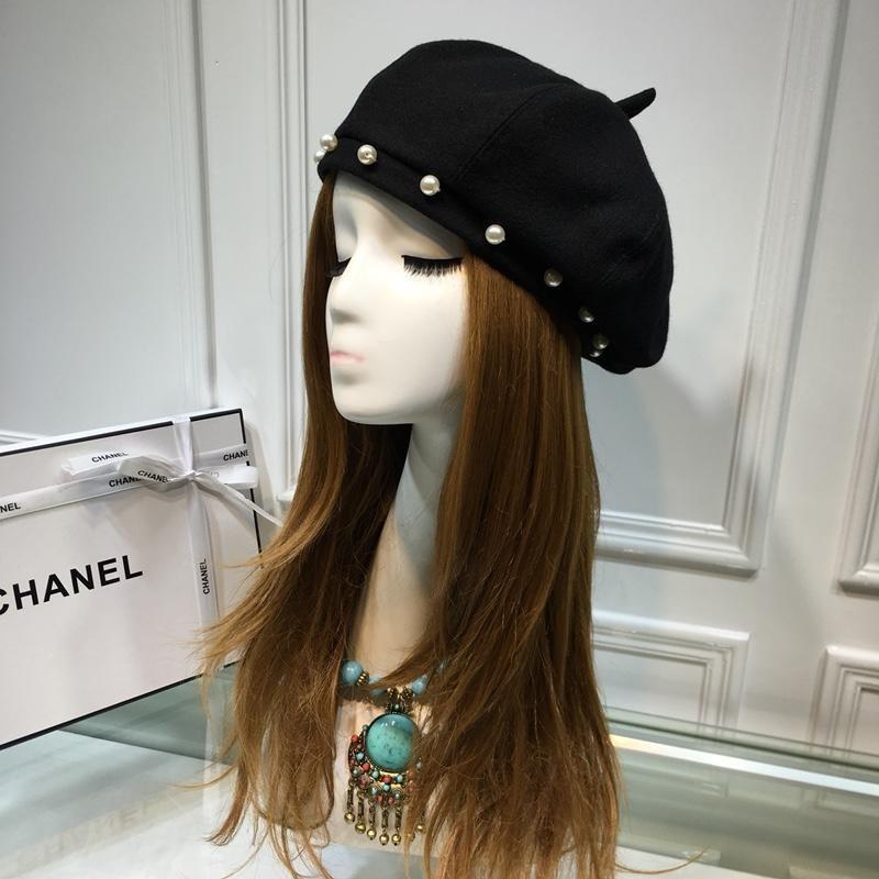 High End Women Cap Ladies Hats Counter Temperament Beret Black Genuine  Leather 23559 Girls Hat Fashion Hat Women Cap Online with  49.19 Piece on  Henan68 s ... 46ec24f0c