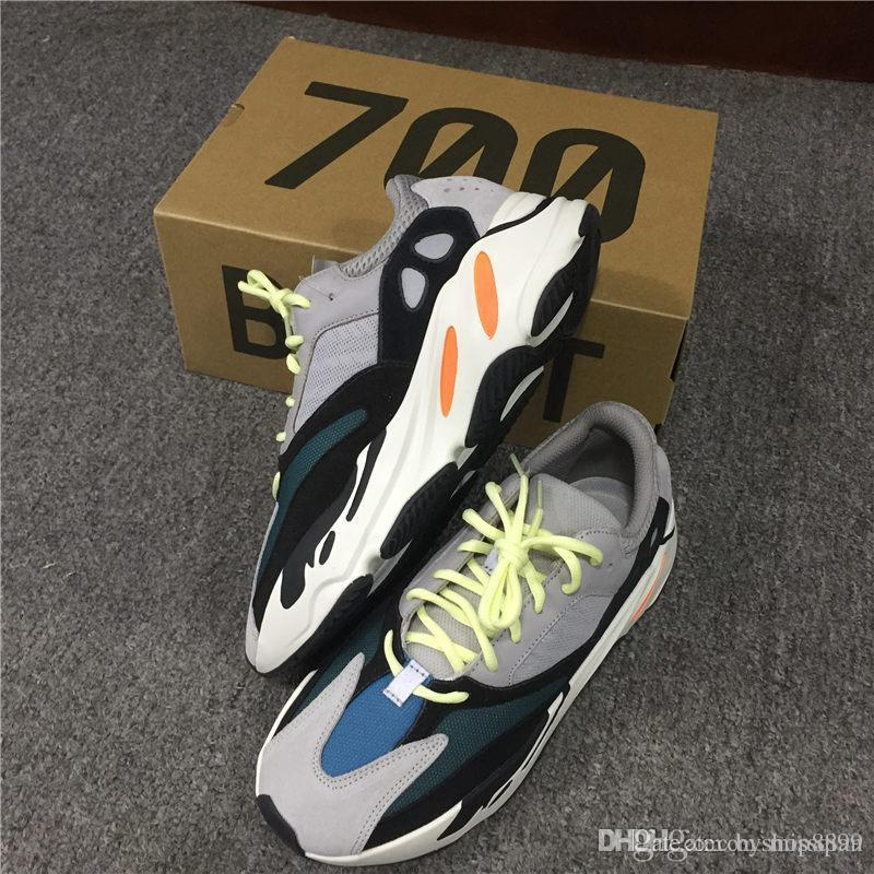 TOP quality with original Shoes & Accessories New Kanye West Wave Runner 700 Boost Mens running shoes Women sports Boost bottom size 36-45 how much cheap price QqcOY7gmrL