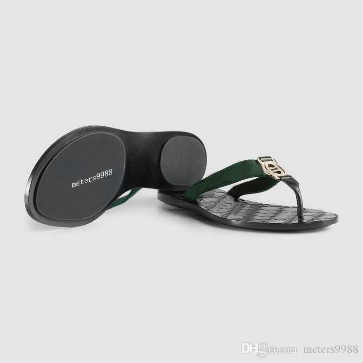 54a1c0d708f0 Mens And Womens Fashion Web Thong Sandals Street Causal Flats Rubber Slippers  Flip Flops Size Euro 35 45 Bearpaw Boots Silver Shoes From Meters9988