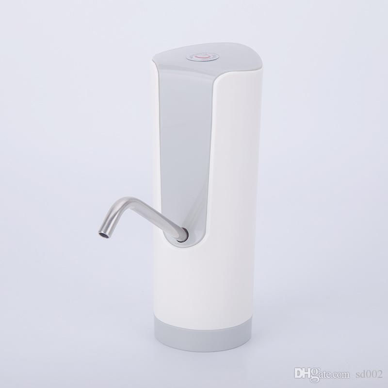 Distributore di acqua pompa acqua in bottiglia portatile portatile erogatore di acqua ricaricabile automatico in resina ABS con cavo USB Batteria Pompe bere 38js YY