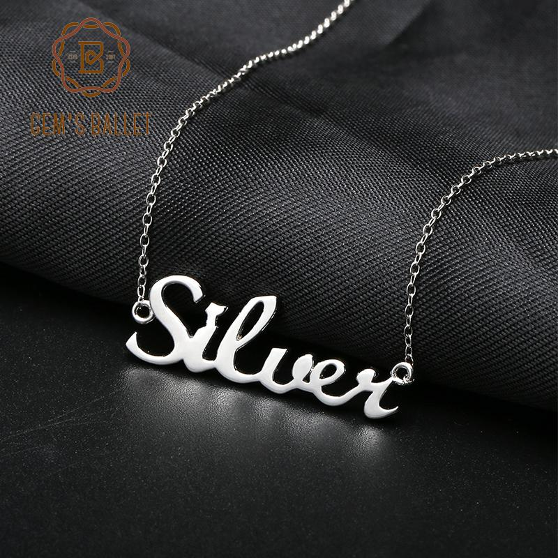 ed3e5e88f33ee Gem s Ballet Arabic Name Necklace Etsy 925 Sterling Silver Choker  Personalized Nameplated Necklaces & Pendants Custom Jewelry