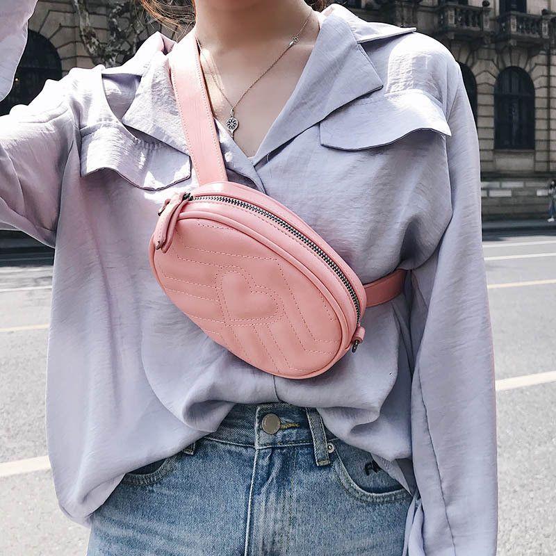 bf2f44c3fb96 Women Shoulder Bags Fashion Handbags Female Waist Bag Girls Crossbody Bags  New Mini Circular Bag Sweet Chain Messenger Bags Girls Purse