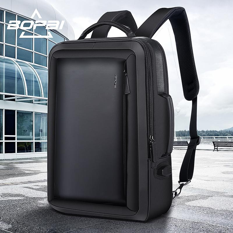 f34d3b2cf5 BOPAI Best Professional Men Business Backpack Travel Waterproof Slim Laptop  Backpack School Bag Office Men Bag Leather Black Leather Backpack Backpacks  For ...