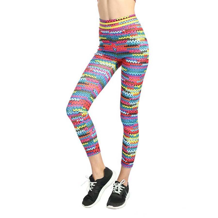 8917541e9eabd Acheter Femmes Taille Haute Fitness Pantalon De Yoga Coloré Courir Des  Collants Pousser La Hip Pantalon De Sport De Sport Jogging Courir Leggings  Pantalon ...