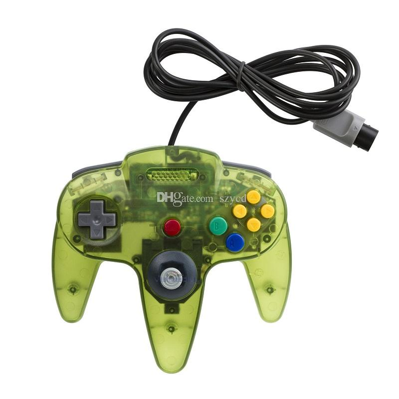 Long Controller Game Pad Joystick System Nintendo 64 N64 Console senza confezione