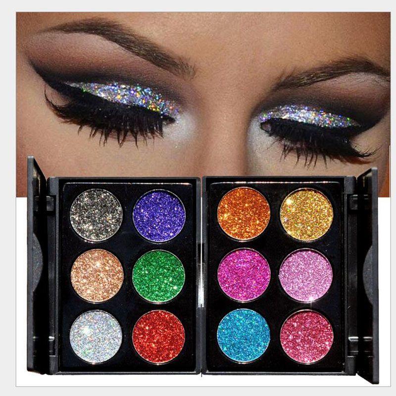 Pressed Glitter Eyeshadow Palette Shiny Diamond Eye Shadow Powder Makeup Palette Shimmer Smokey Eyes Cosmetic Make Up Blue Eyeshadow Eyeshadow For Green ...