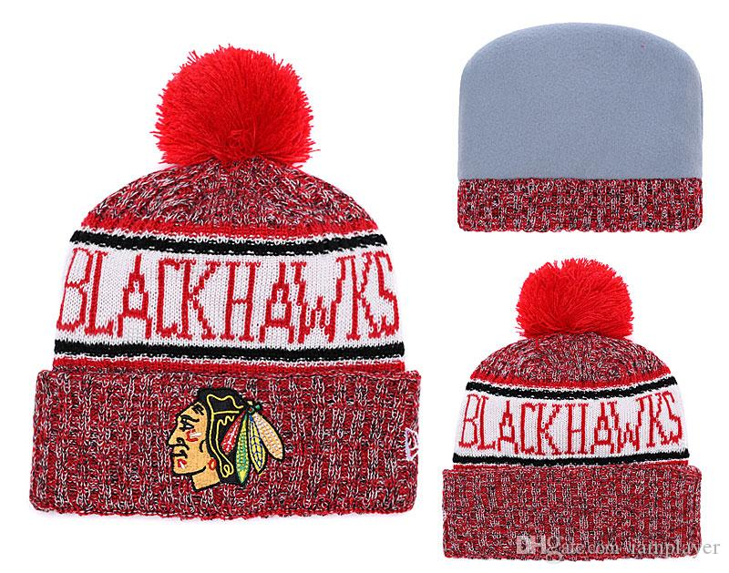 d87d1d4f6cf15 2019 Ice Hockey Beanies 2018 New Fashion Knitted Hats Womens Mens Skull  Caps Winter Sports Hat Best Quality From Iamplayer