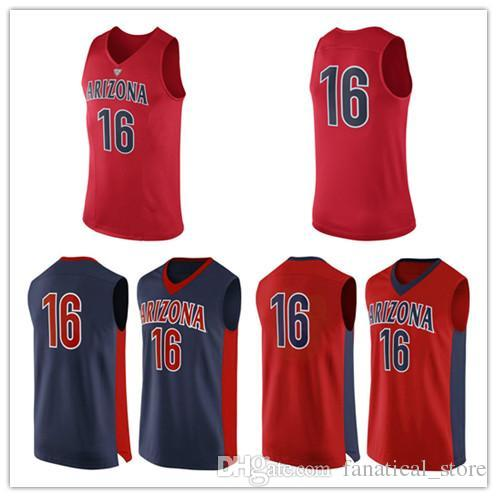 b296c1462979 2019 NO.16 Arizona Wildcats Men College Basketball Jersey Embroidery UA  Athletic Outdoor Apparel Mens Sport Jerseys Size S 5XL From  Fanatical store