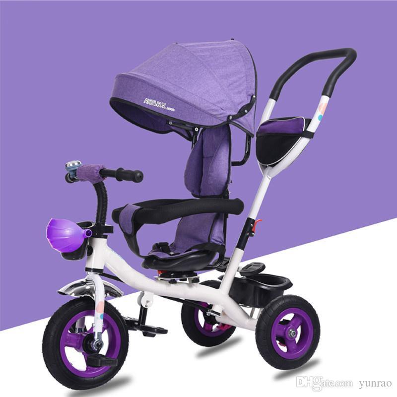 Passeggino genuino un pulsante ruotare il guidatore del triciclo bambini 1-3 passeggino bambino di 4 anni