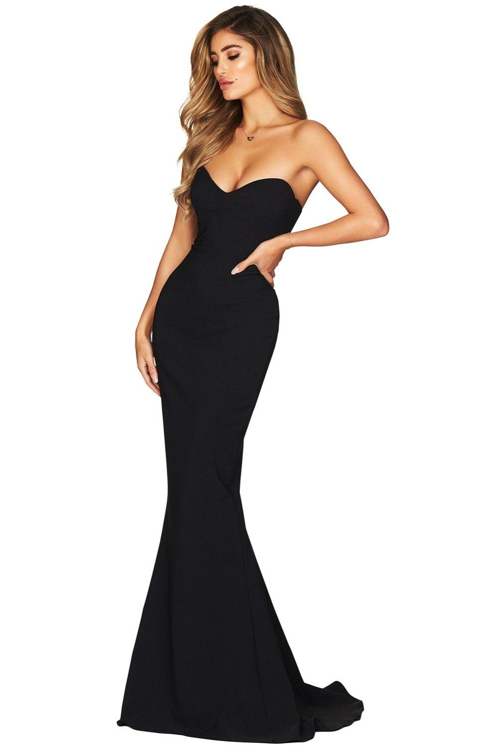 New Sexy Long Party Dress Black Strapless Sweetheart Neckline Mermaid Gown  Vestido De Festa Longo Robe De Soiree LC610868 Shop Cocktail Dress Cocktail  Night ... 79add9977de