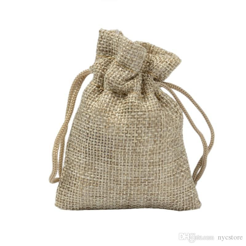 2018 79cm Small Burlap Bags With Drawstring Gift Cotton Linen Jewelry Bag Custom Size From Nycstore 1508