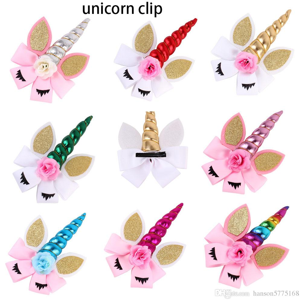 Princess Unicorn Hair Bands Flower Headband Cat Ears Girls Hair Sticks Hair Bows For Cosplay Birthday Party Supply