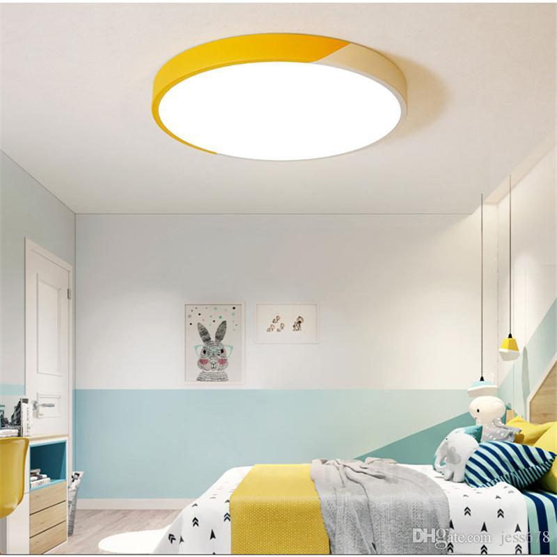 Acheter 2019 Nouveau Moderne Ultra Mince Double Couleur Led Plafond