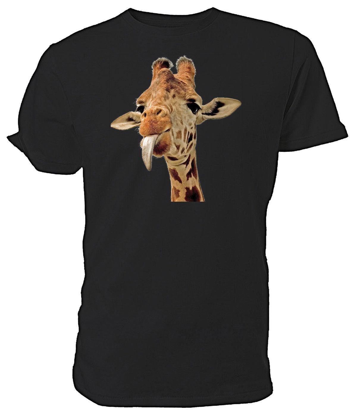 382548bdc5 Cheeky Giraffe T shirt - Choice of size & colours. Youth Round Collar  Customized T-Shirts Solid Color Fashion T Shirt Brand