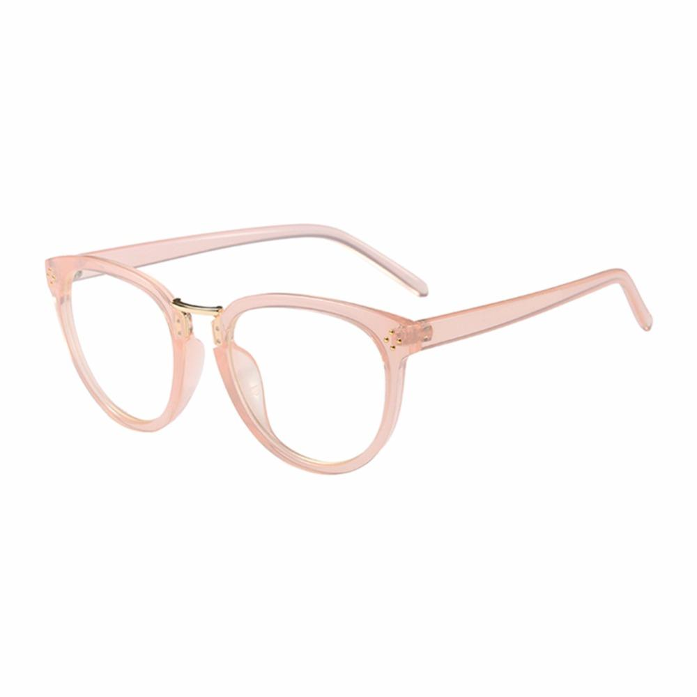 b98c2b5304c 2019 Oval Plastic Frame Retro Full Frame Non Prescription Eyewear ...