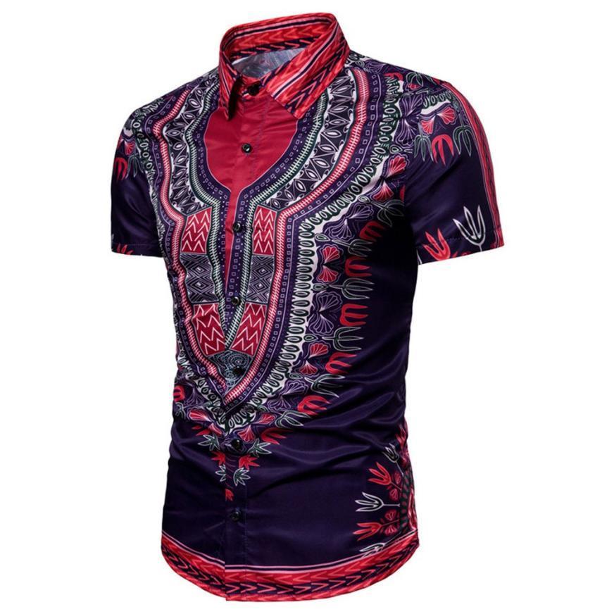 a0f809f959f6d Großhandel Sommer Herren Afrikanische Kleidung Dashiki Kleidung Stricken  Nähte Batik Druck Kurzarm Tops Mann T Shirt Grafik Top Von Victoriata