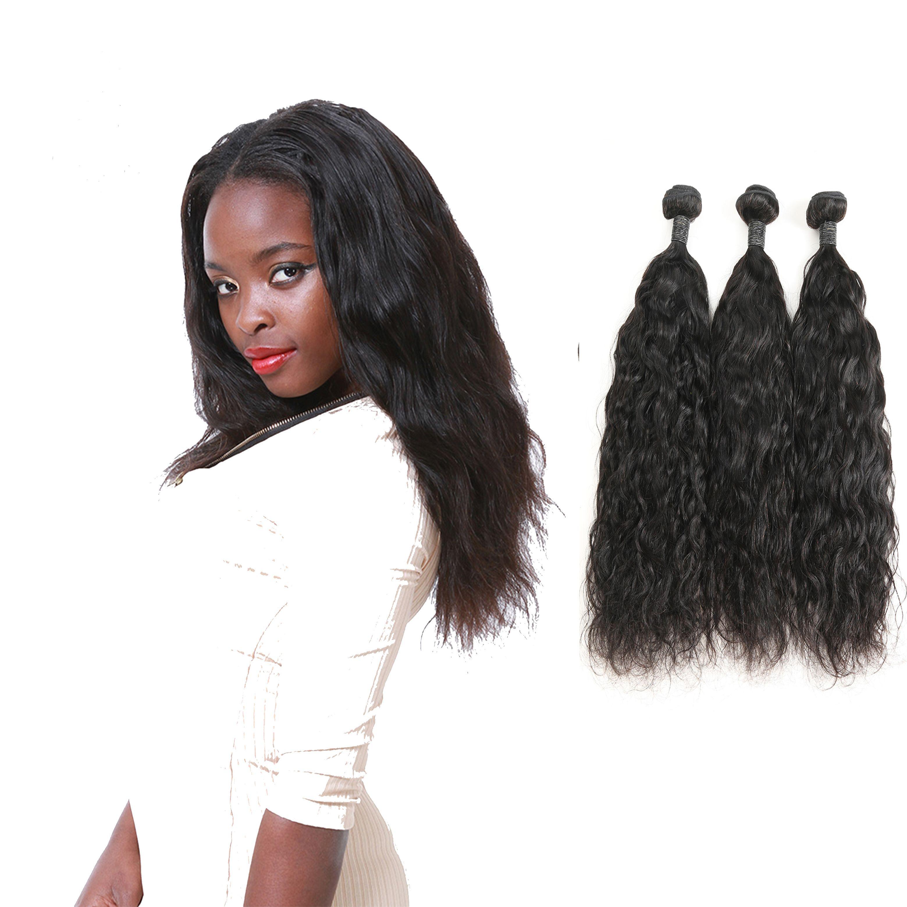 Indian Cheap Hair Bundles Soft Human Hair Weaves 3 Bundles Natural Wave Real  Human Hair Extensions Skin Weft Seamless Hair Extensions Ez Weft Hair ... 2bbb975fd