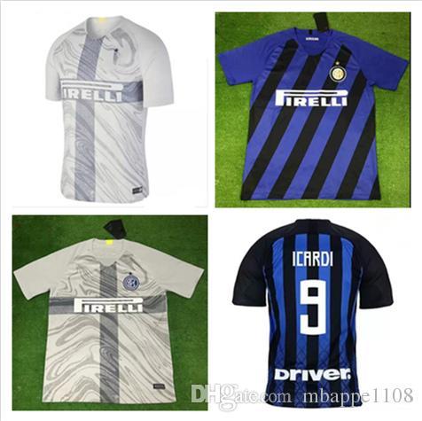 524964be6 18 19 Inter Soccer Jersey ICARDI PERISIC NAINGGOLAN Football Shirt ...