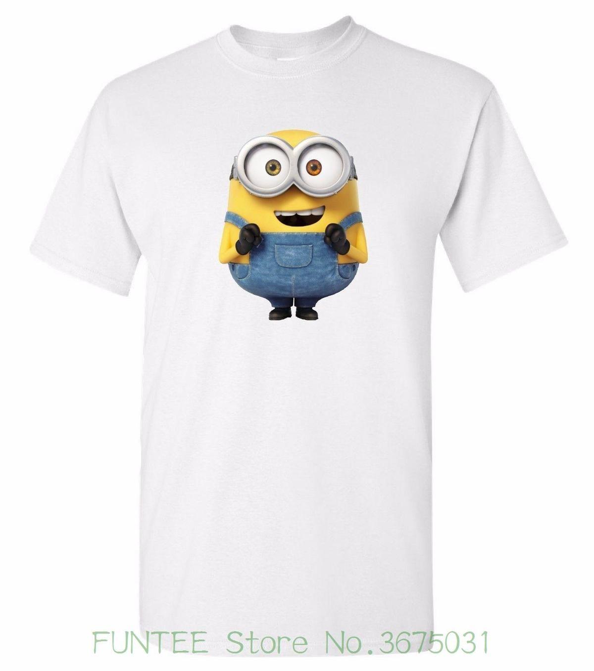 Women S Tee Minion Bob White T Shirt 100 Cotton Tee By Bmf Apparel