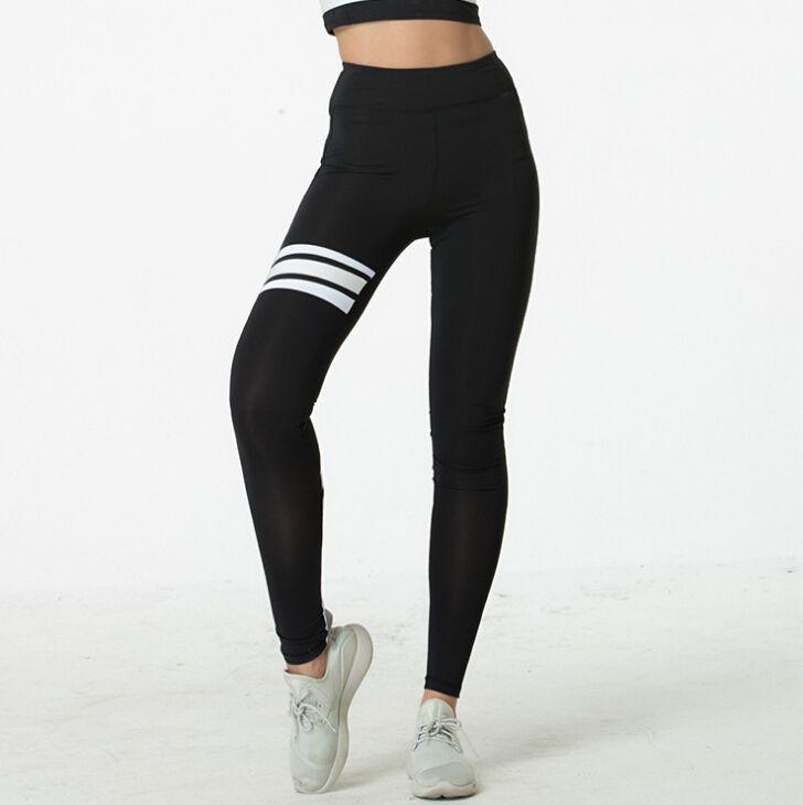 068ecebae6 2019 Women Leggings Stripe Print Sport Girl Skinny Stretchy Pants Tight  Fitting Elastic Slim Fitness Pencil Trousers From Cinda02, $29.91 |  DHgate.Com
