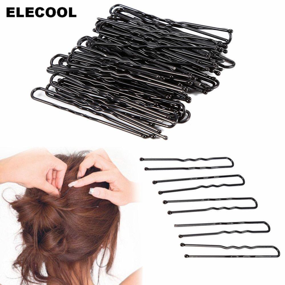 10 Stk Wholesaled Mädchen Großverkauf Schwarz Rhodium Haarnadel Haarklammern
