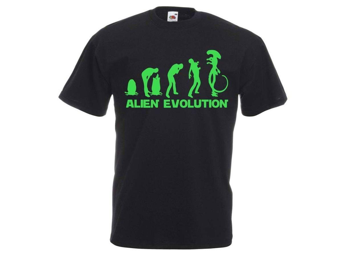 Aliens Evolution Life Cycle Xenomorph Facehugger Chestburster Prometheus  T-Shirt