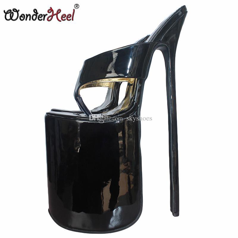 c16a542cbeb Wonderheel 12 Heel Extreme High Heel 30cm Stiletto Heel With Platform Black  Patent Sexy Fetish Flip Flops Slip On Sexy Sandals Sparx Sandals Blue Shoes  From ...
