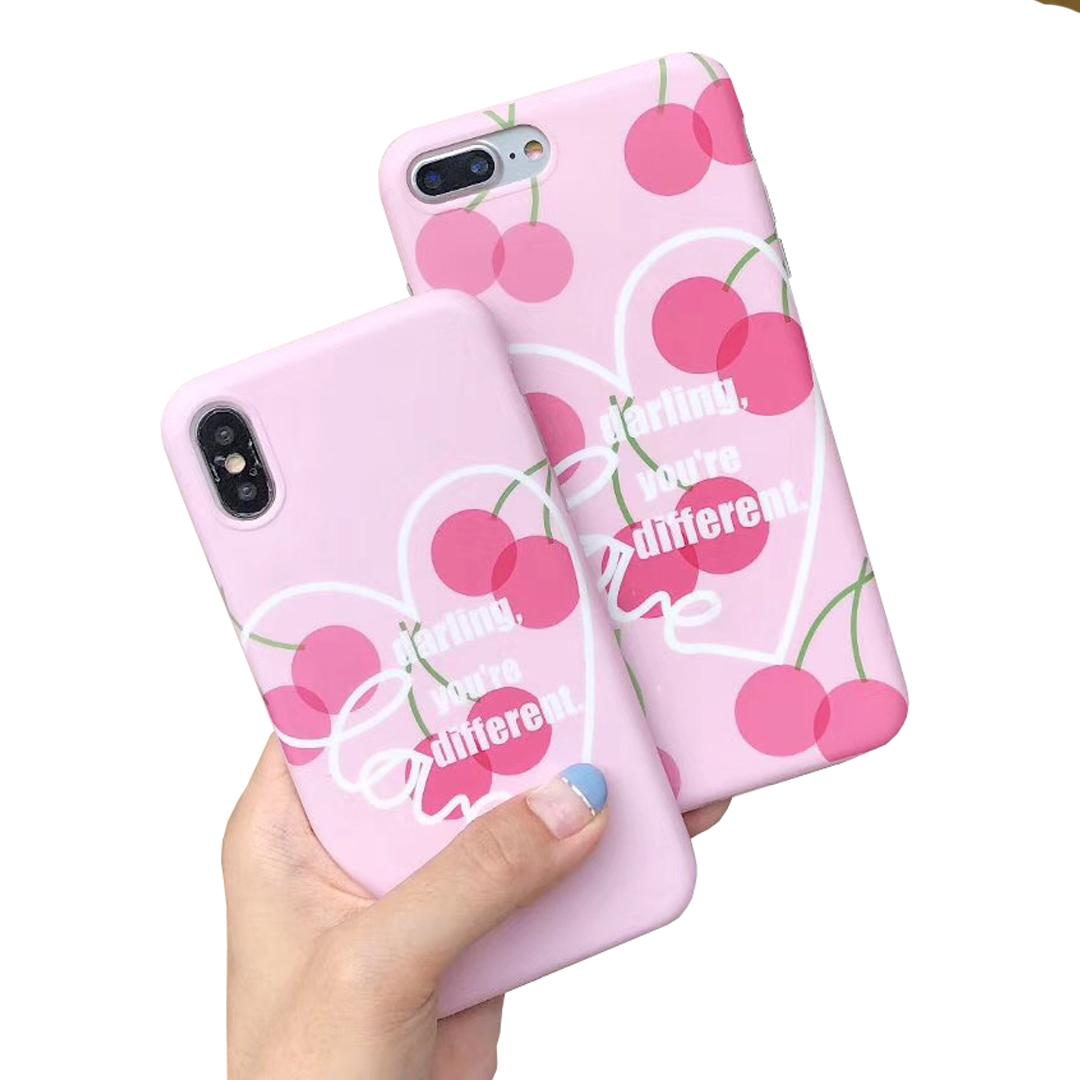 Cartoon Cherry Phone Case For Iphone X Case For Iphone 6 6s 7 8 Plus ...