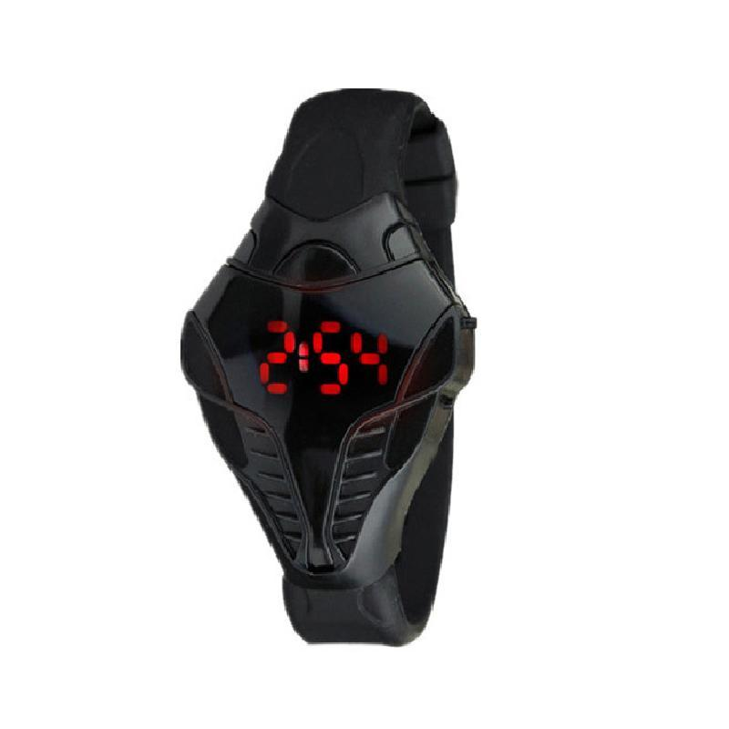 LED Display Men Digital Watch Calendar Wristwatch For Men Creative Electronic Watch With Silicone Strap Snake Shape Case 24 Hour