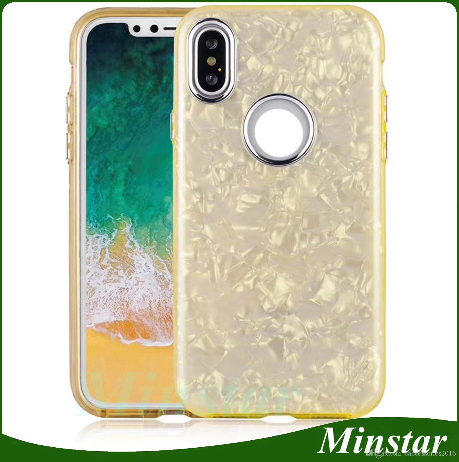 For Motorola E5 Play E4 Plus LG K8 2018 X Power 2 Stylo 3 ZTE Blade Force N9517 Warp 8 Boost Mobile PC TPU Shell Pattern Bling Glitter Case