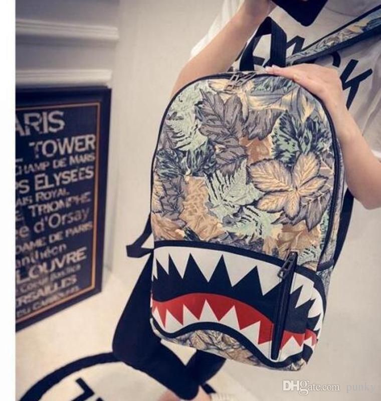 Граффити аниме акула печати рюкзак для подростков мальчик девочка женщины мужчины школьные сумки прохладный ноутбук сумка путешествия рюкзак 30 шт.